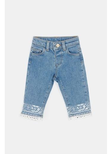 BG Baby Kız Bebek Jean Pantolon 20Pfwbg2208 Mavi